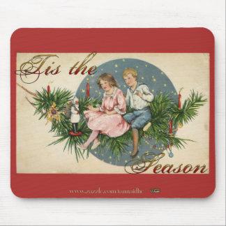 Tis the Season Vintage Scene Mouse Pad