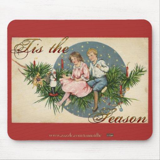 Tis the Season Vintage Scene Mousepad
