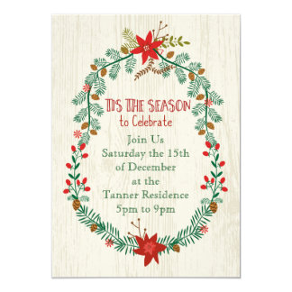 Tis the Season Wreathed Woodland Invite