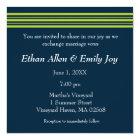 Tisbury - Navy and Green - Wedding Invitation