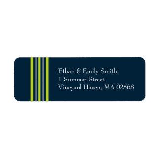 Tisbury - Navy Green White - Return Address Lable Return Address Label