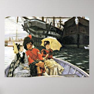 Tissot: Portsmouth Dockyard artwork Poster