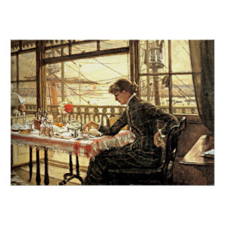 Tissot: Room Overlooking the Harbor Poster