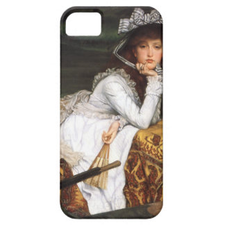 Tissot young lady and pug antique painting iPhone 5 covers