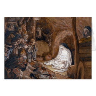"""Tissot's """"The Adoration of the Shepherds"""" Card"""