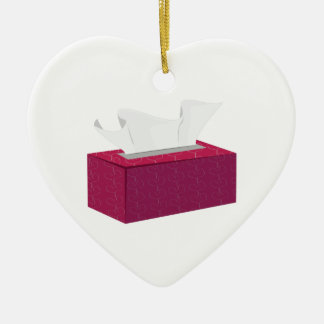 Tissue Box Ceramic Ornament