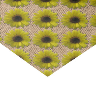 Tissue Gift Wrap - Burlap Rain-Drenched Sunflowers Tissue Paper