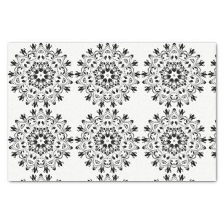 Tissue paper black and white design