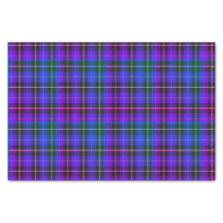 Tissue paper Christmas  green blue purple plaid