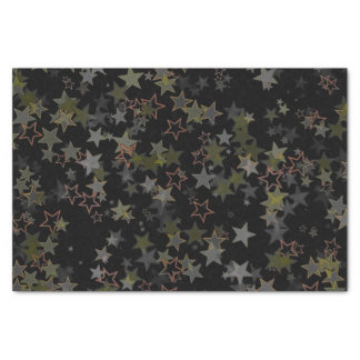 Tissue paper Christmas star army green black peach