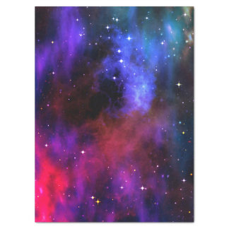 Tissue paper space cosmos stars solar system