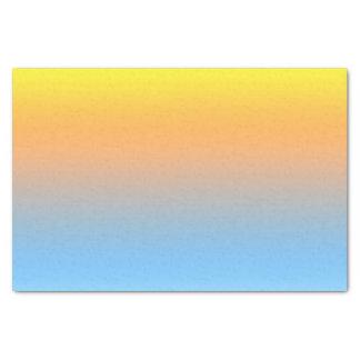Tissue Paper Sunset Beach Colors