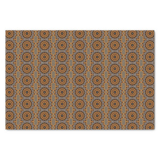 TISSUE PAPER WITH GOLD/BROWN ABSTRACT .