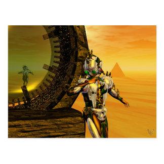 TITAN IN THE DESERT OF HYPERION POST CARD