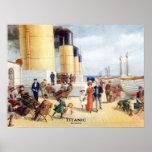 Titanic 100th Anniversary colour Boat Deck Image Poster