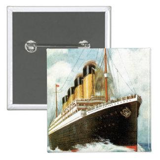Titanic at Sea 15 Cm Square Badge