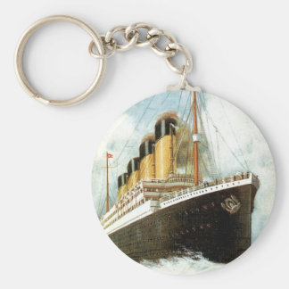 Titanic at Sea Basic Round Button Key Ring