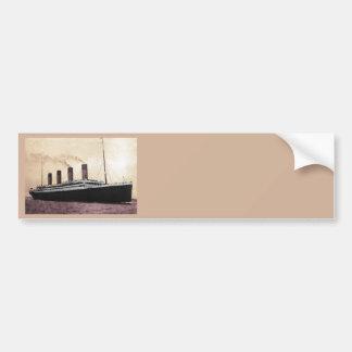 Titanic at Sea Bumper Sticker
