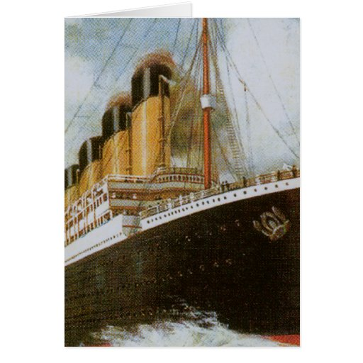 Titanic at Sea Greeting Card