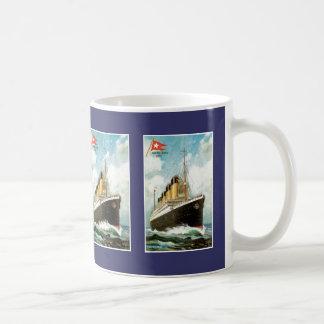 Titanic at Sea Basic White Mug
