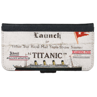 Titanic Boarding Pass iPhone 6 Wallet Case