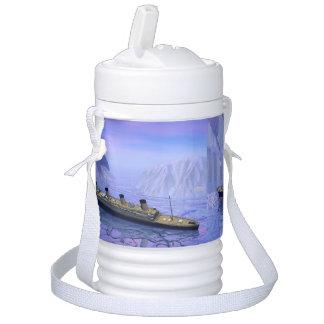 Titanic boat sinking - 3D render Cooler