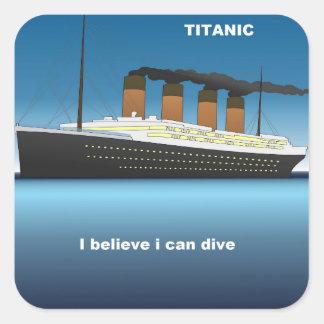 titanic divine square sticker