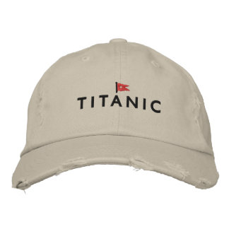 Titanic Hat with White Star Line Logo Embroidered Baseball Cap