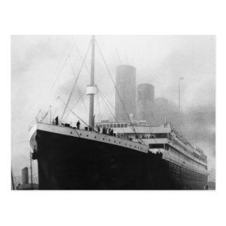 Titanic in dock in Southampton Postcard