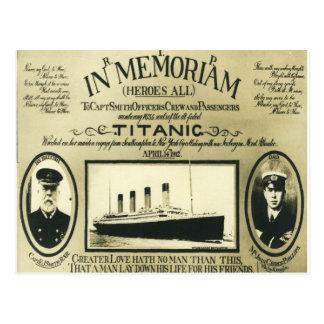 Titanic In Memoriam Postcard