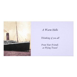 Titanic on Her Maiden Voyage Picture Card