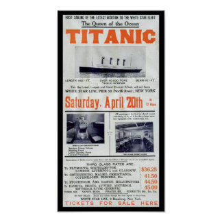 Titanic Queen Of The Ocean Poster