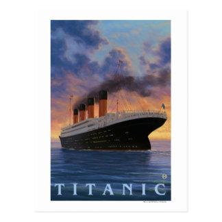 Titanic SceneWhite Star Line Postcard