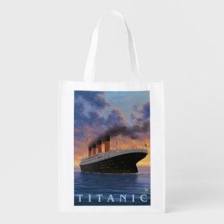 Titanic SceneWhite Star Line Reusable Grocery Bags
