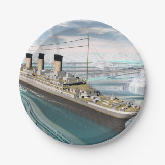 Titanic ship - 3D render 7 Inch Paper Plate