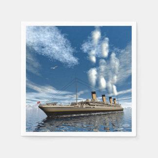 Titanic ship - 3D render Disposable Serviettes