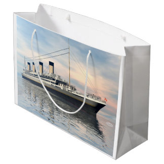 Titanic ship - 3D render Large Gift Bag