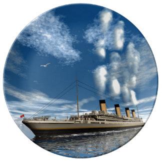 Titanic ship - 3D render Porcelain Plates