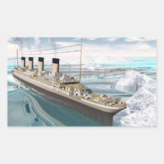 Titanic ship - 3D render Rectangular Sticker