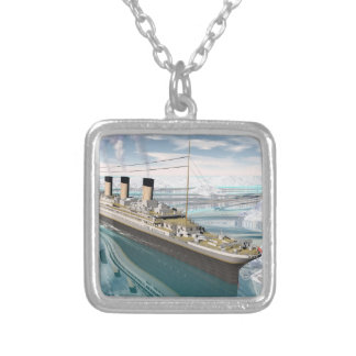 Titanic ship - 3D render Silver Plated Necklace