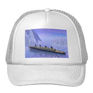 Titanic ship sinking - 3D render Cap