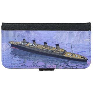 Titanic ship sinking - 3D render iPhone 6 Wallet Case