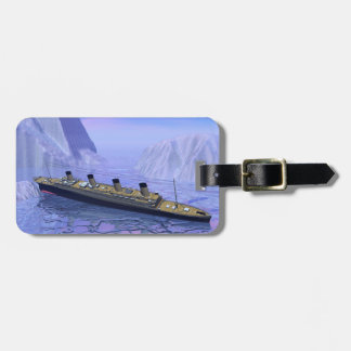 Titanic ship sinking - 3D render Luggage Tag