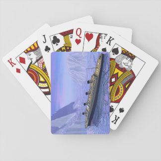 Titanic ship sinking - 3D render Playing Cards