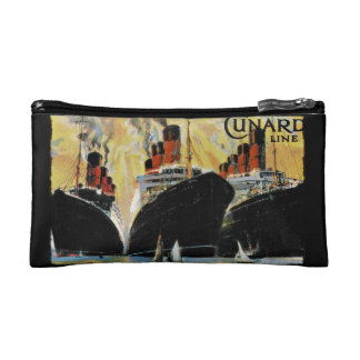 Titanic Ships in Port 1912 Cosmetic Bag