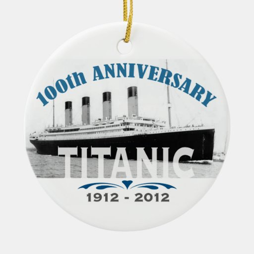 Titanic Sinking 100 Year Anniversary Christmas Tree Ornaments