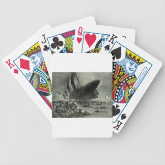 Titanic Sinking Bicycle Playing Cards