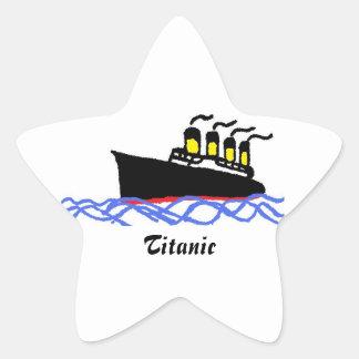 Titanic STAR Star Sticker