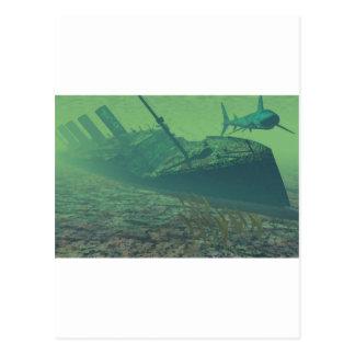 Titanic sunk postcard