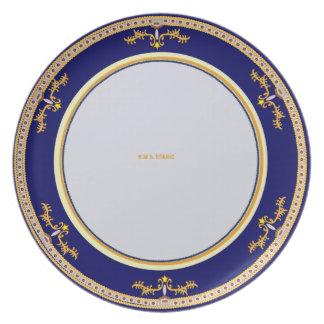 Titanic VIP plate design